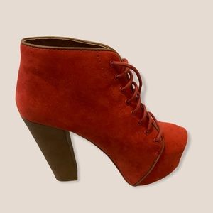 Size 5 booties Orange